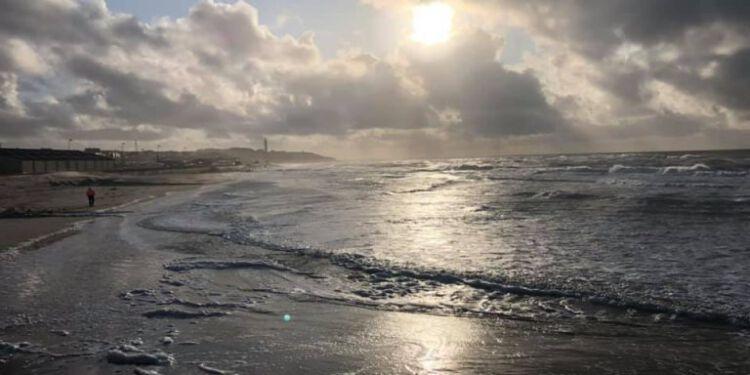 Havet ved Husmoderstranden i Hirtshals. Foto (arkiv): Martabolette Stecher.