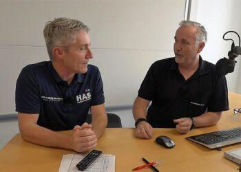 Henrik Ledet (til venstre) og Niels Viborg (til højre) har begge været med siden Skaga FM gik i luften første gang i 1990. Foto: Jesper Christiansen.