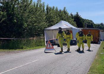 Sikkerheden har været høj i forbindelse med arbejdet med coronavirus, men stadig mere smitte på minkfarmene bekymrer også borgmesteren i Hjørring Kommune. Foto (arkiv): Jeppe Hostrup / TV2 Nord.