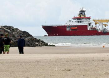 Her er det fartøjet Polar King, som i august ankom til Hirtshals for at lægge et nyt fiberkabel på bunden af Skagerrak til Larvik i Norge. Foto (arkiv): Kurt Prentow.