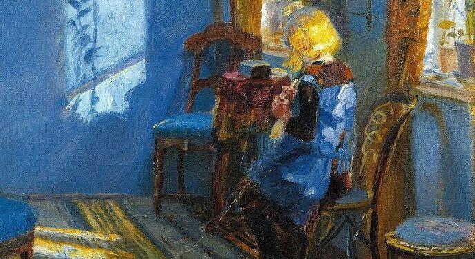 Solskin Blå Stue Anna Ancher 688x493