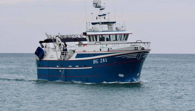 HG 281 Elin anløber Hirtshals Havn. Foto: Dan Sejbjerg.
