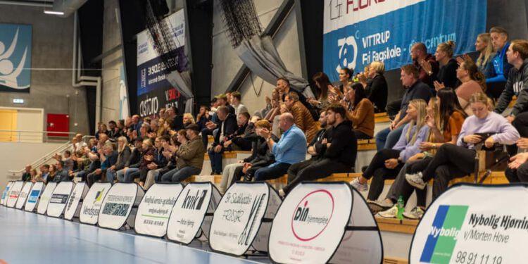 Det bliver tidligst efter 23. november, der igen kommer tilskuere til 1. divisionshåndbold i Park Vendia. Foto: Kristian Hedegaard.