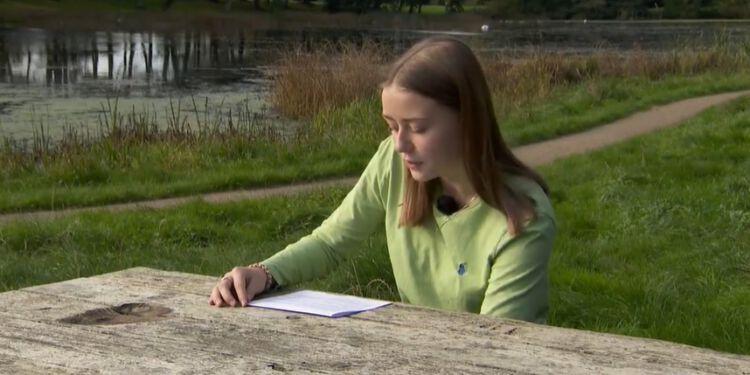 Julie Bundgaard fra Bagterpskolen i Hjørring. Foto: TV2 Nord.