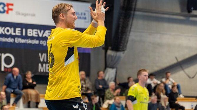 Marcus Raakjær, Elitesport Vendsyssel – mest scorende målvogter i 1. division. Foto (arkiv): Kristian Hedegaard.