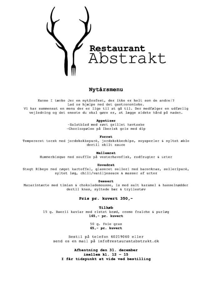 Nytaarsmenu Abstrakt