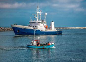 Fiskeristyrelsens inspektionsskib Vestkysten i Hirtshals Havn. Foto (arkiv): Jens Kranen Photography.