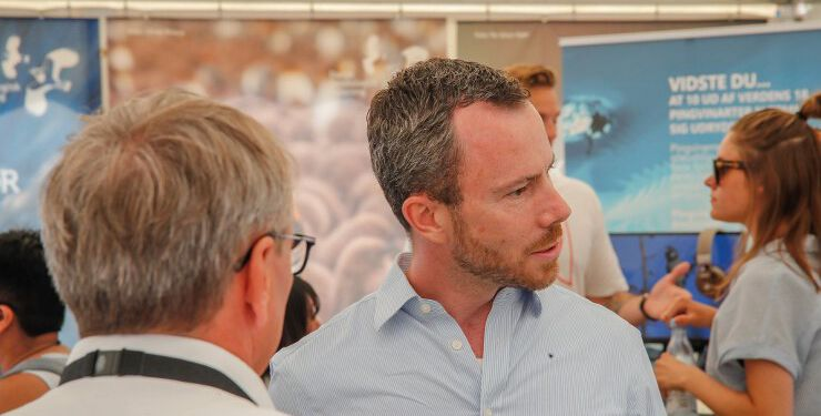 Dæværende miljøminister og nuværende partiformand Jakob Ellemann-Jensen (V) ved Naturmødet 2018 i Hirtshals. Arkivfoto: Jens Kranen Photography.