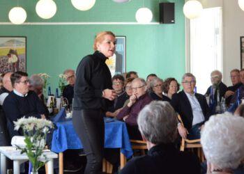 Inger Støjberg på Restaurant Tannishus. Foto: Arkiv.